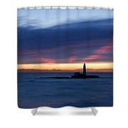 St Marys Lighthouse Sunrise Shower Curtain