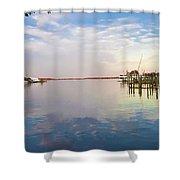 St Michaels Harbor Shower Curtain