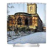 St Modwen's Church - Burton - In The Snow Shower Curtain