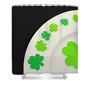 St. Patrick's Day Plate Shower Curtain
