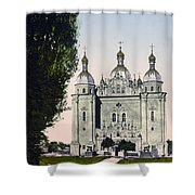 St Paul And St Peter Cathedrals In Kiev - Ukraine - Ca 1900 Shower Curtain