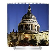St Pauls Cathedral At Dusk, Exterior Shower Curtain