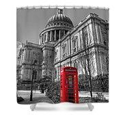 St Pauls Telephone Box Shower Curtain