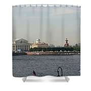 St Petersburg And River Neva - Russia Shower Curtain