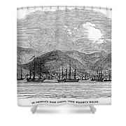St. Thomas, 1844 Shower Curtain
