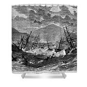 St. Thomas: Hurricane, 1867 Shower Curtain