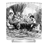 St. Valentines Day, 1856 Shower Curtain