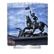 St Vitus Cathedral - St George Statue  Shower Curtain