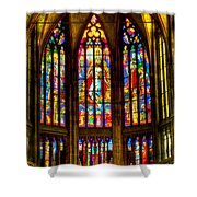 St Vitus Main Altar Stained Glass Shower Curtain