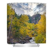 St Vrain Canyon Autumn Colorado View Shower Curtain