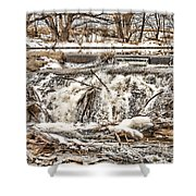 St Vrain River Waterfall   Shower Curtain