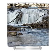 St Vrain River Waterfall Slow Flow Shower Curtain