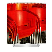 Stacked Chairs Shower Curtain by Carlos Caetano