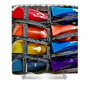 Stacked Emotions Shower Curtain by DigiArt Diaries by Vicky B Fuller
