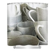 Stacked Up Shower Curtain