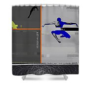 Stage Flight Shower Curtain by Naxart Studio
