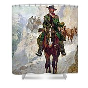 Stagecoach Travel, 1906 Shower Curtain
