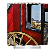 Stagecoach View Shower Curtain