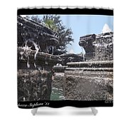 Staggered Tiers Shower Curtain