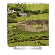 Staigue Fort, Kerry Shower Curtain