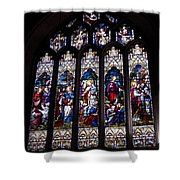 Stained Glass - Bath Abbey Shower Curtain