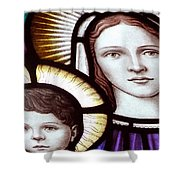 Stained Glass Holy Family Shower Curtain
