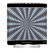 Stained Glass Kaleidoscope 32 Shower Curtain