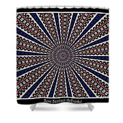 Stained Glass Kaleidoscope 49 Shower Curtain