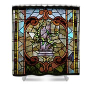 Stained Glass Lc 12 Shower Curtain by Thomas Woolworth