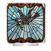 Stained Glass Lc 14 Shower Curtain