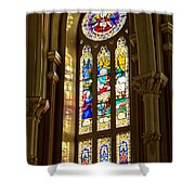Stained Glass Of St Michaels Basilica Shower Curtain