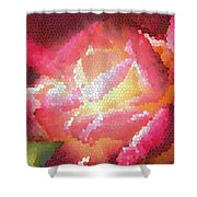 Stained Glass Rose Shower Curtain