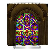 Stained Glass Window In Mezquita Shower Curtain