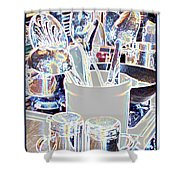 Stainless Steel  Shower Curtain