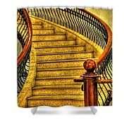 Stairs Hdr Processing Shower Curtain