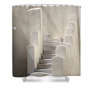 Stairs In Greece Shower Curtain