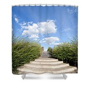 Stairs To The Big Blue Sky Shower Curtain