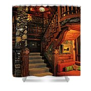 Stairway In Gillette Castle Connecticut Shower Curtain