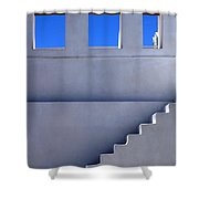 Stairway In Iao Greece Shower Curtain