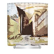 Stairway To Heaven Abstract Shower Curtain