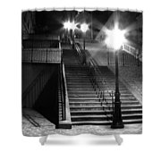 Stairway To Montmartre At Night Shower Curtain