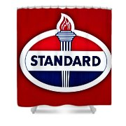 Standard Oil Sign Shower Curtain