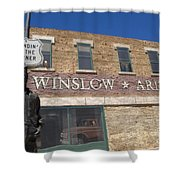 Standin On The Corner In Winslow Arizona Shower Curtain
