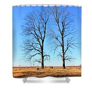 Standing Alone Together Shower Curtain