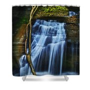 Standing In Motion Shower Curtain