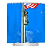 Standing Proud Soaring High Shower Curtain