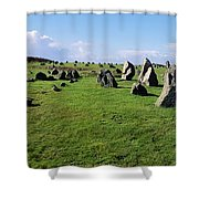 Standing Stones On A Landscape Shower Curtain