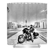 Standing Watch At The Houston National Cemetery Shower Curtain by David Morefield
