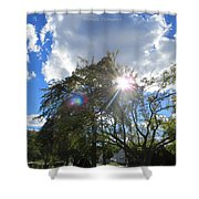 Star Called Helios Shower Curtain
