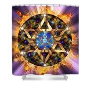 Star Of David Three Shower Curtain